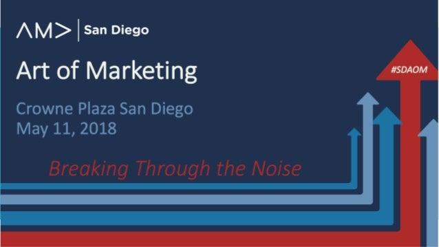 Art of Marketing Crowne Plaza San Diego May 11, 2018