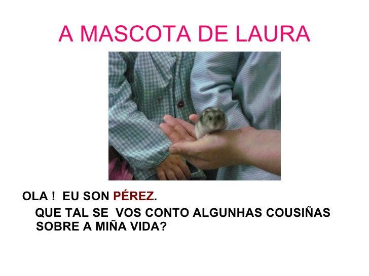A MASCOTA DE LAURA <ul><li>OLA !  EU SON  PÉREZ . </li></ul><ul><li>QUE TAL SE  VOS CONTO ALGUNHAS COUSIÑAS SOBRE A MIÑA V...