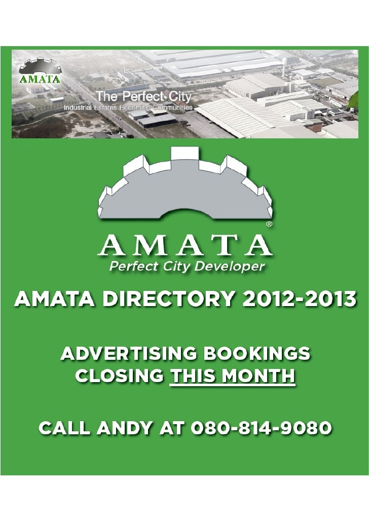 Amata Corp. Directory 2012 - 2013 Advertising