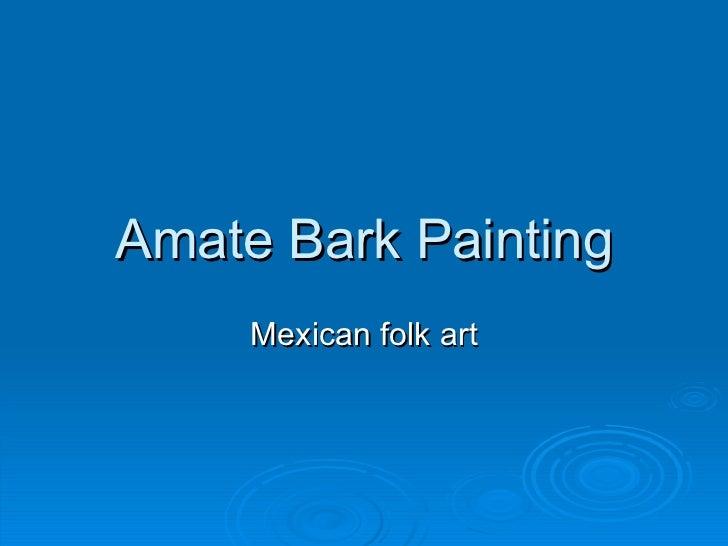 Amate Bark Painting Mexican folk art