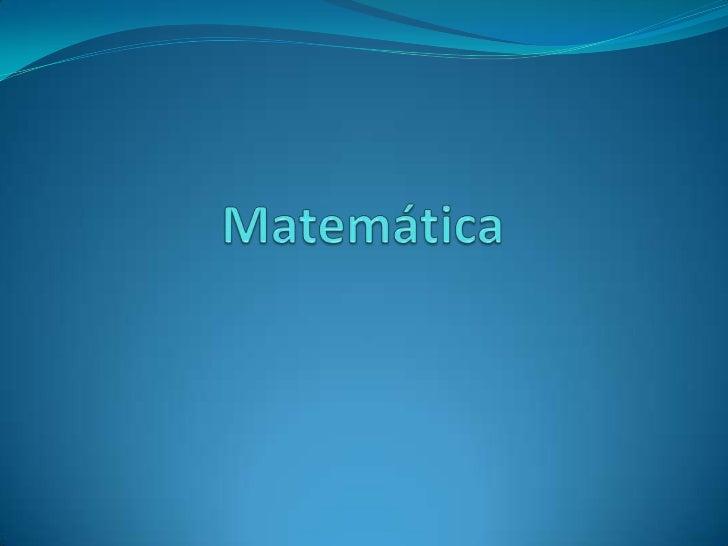Matemática<br />