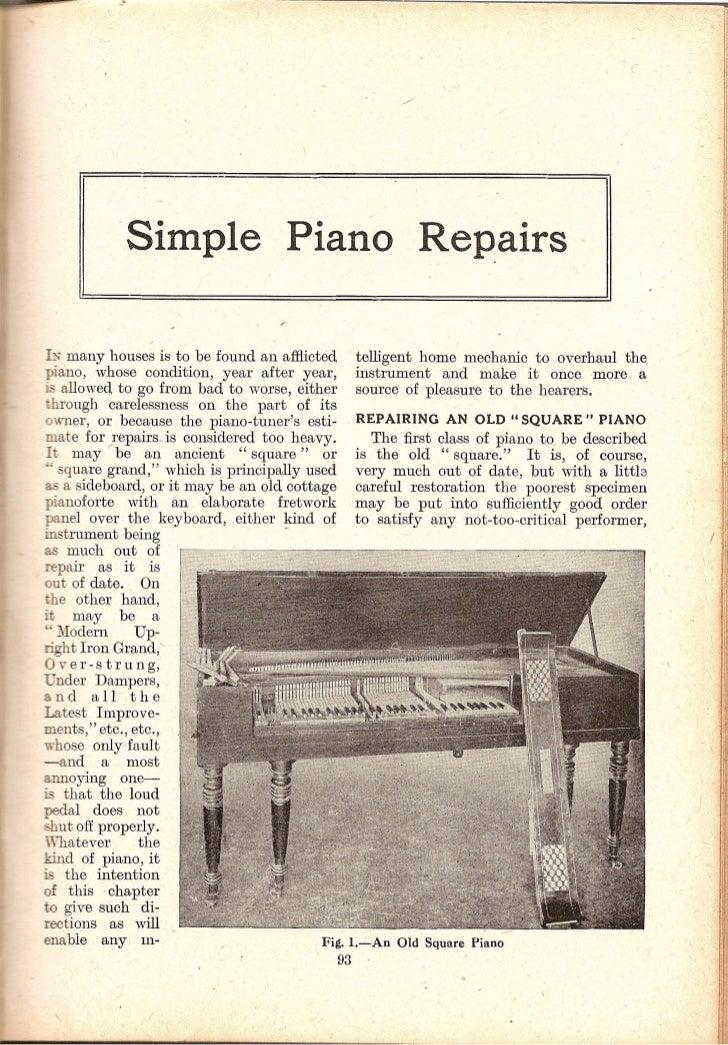 Amateur mechanic piano repairs Slide 2