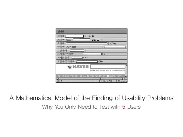 A mathematical model of the finding of usability problems