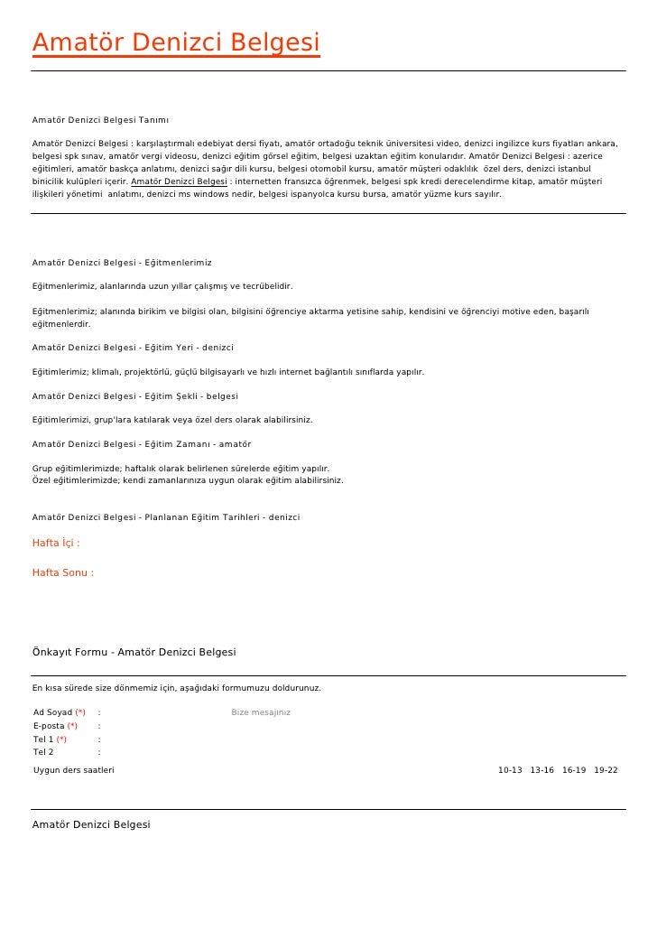 Amatör Denizci BelgesiAmatör Denizci Belgesi TanımıAmatör Denizci Belgesi : karşılaştırmalı edebiyat dersi fiyatı, amatör ...