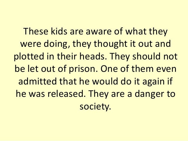 why shouldn t juveniles be tried as adults