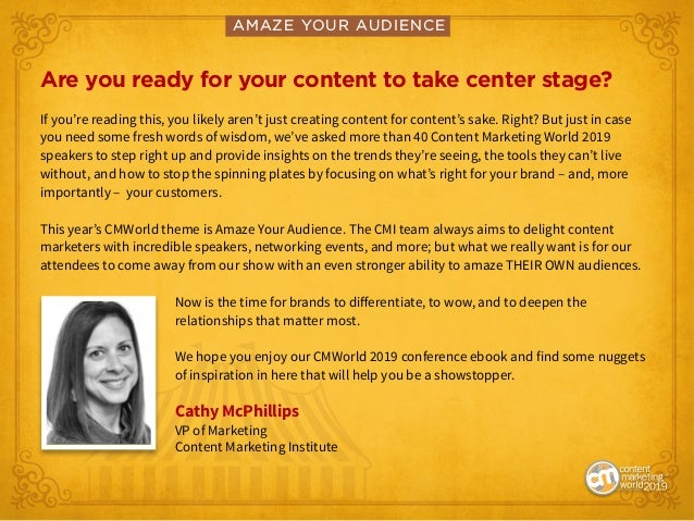 Amaze Your Audience: Find Your Showstopping Content Marketing Moment Slide 2