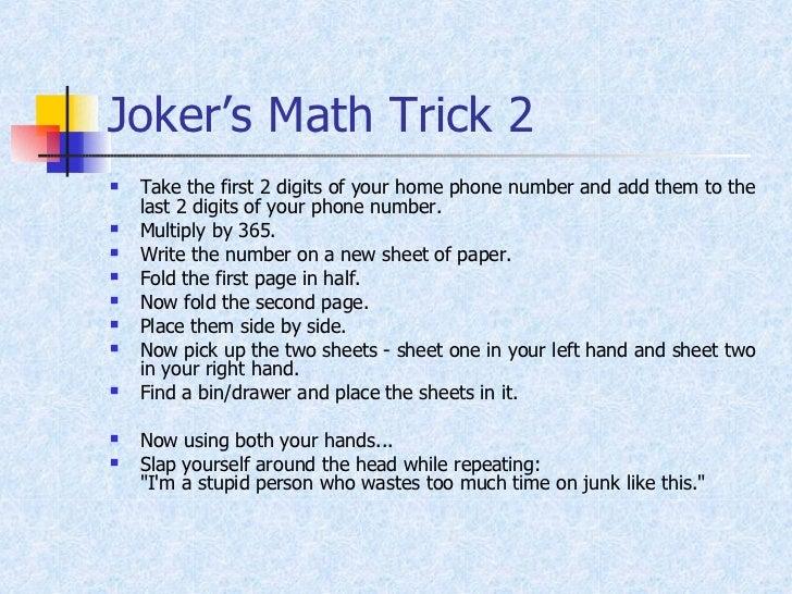 Amazing Math Trick