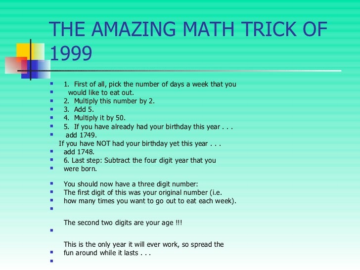 Worksheets Mind-readingnumbertrick — Mathfunfacts amazing math trick 8 the trick