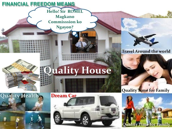 FINANCIAL FREEDOM MEANS                 Hello! Sir ROMEL                     Magkano                 Commisssion ko       ...