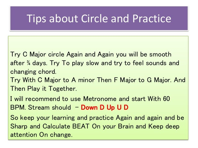 Amazing Beginner Guitar lesson - C Major Guitar Chords Circle for eve…