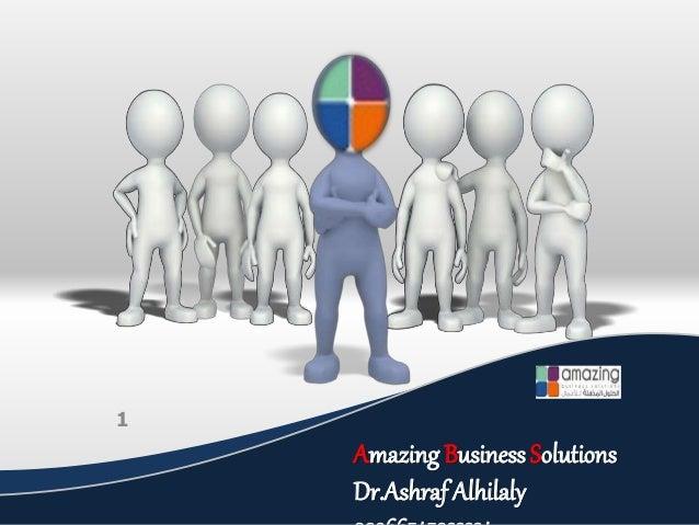 Amazing Business Solutions Dr.Ashraf Alhilaly 1