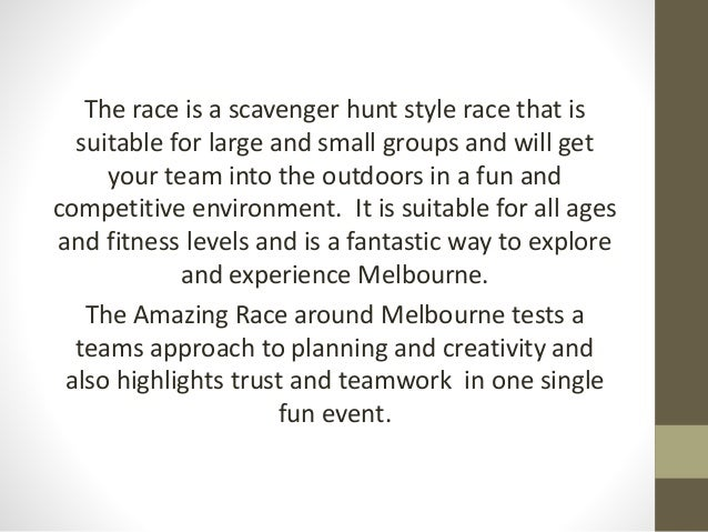 Amazing Race Team Building Programs All Throughout Australia