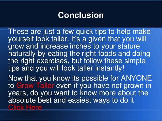 How To Make Yourself Taller Naturally