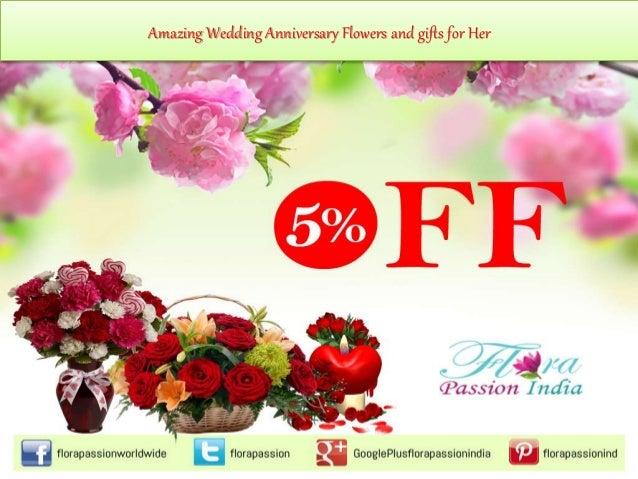Amazing wedding anniversary flowers for her