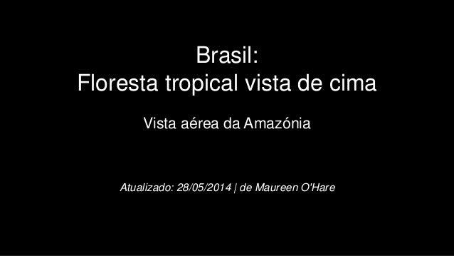 Brasil: Floresta tropical vista de cima Vista aérea da Amazónia Atualizado: 28/05/2014 | de Maureen O'Hare