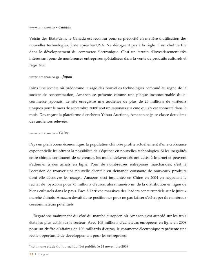 www.amazon.ca - CanadaVoisin des Etats-Unis, le Canada est reconnu pour sa précocité en matière dutilisation desnouvelles ...