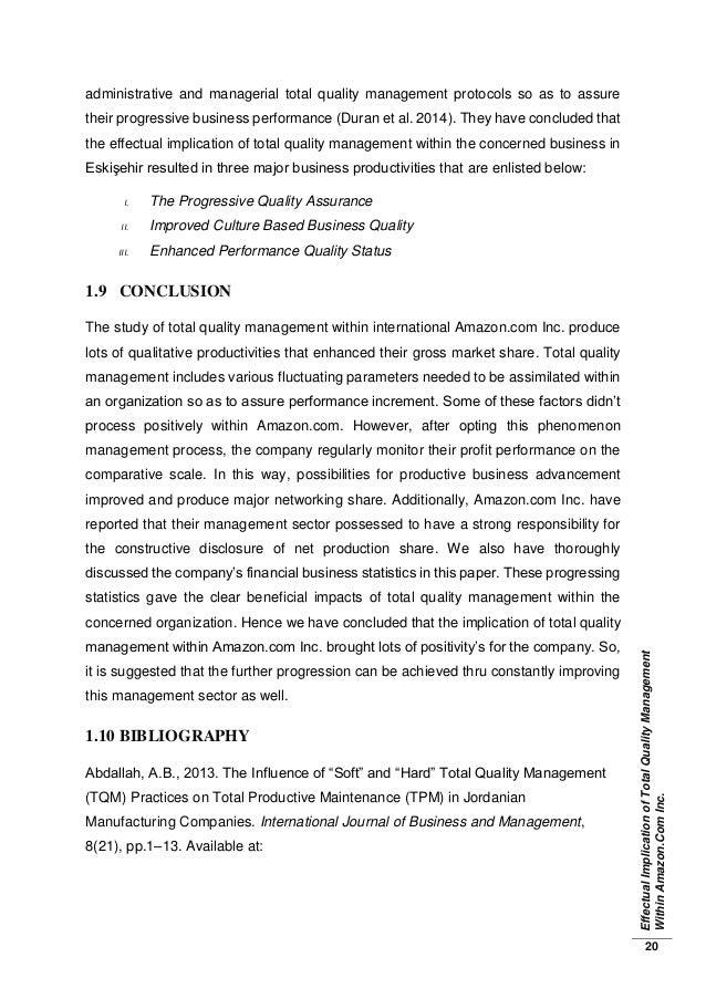 implication of total quality management tqm 18 231 definition of total quality management 18 232 origin and evolution  of tqm 19 234 implementation and benefits of tqm 20 235 tqm practices.
