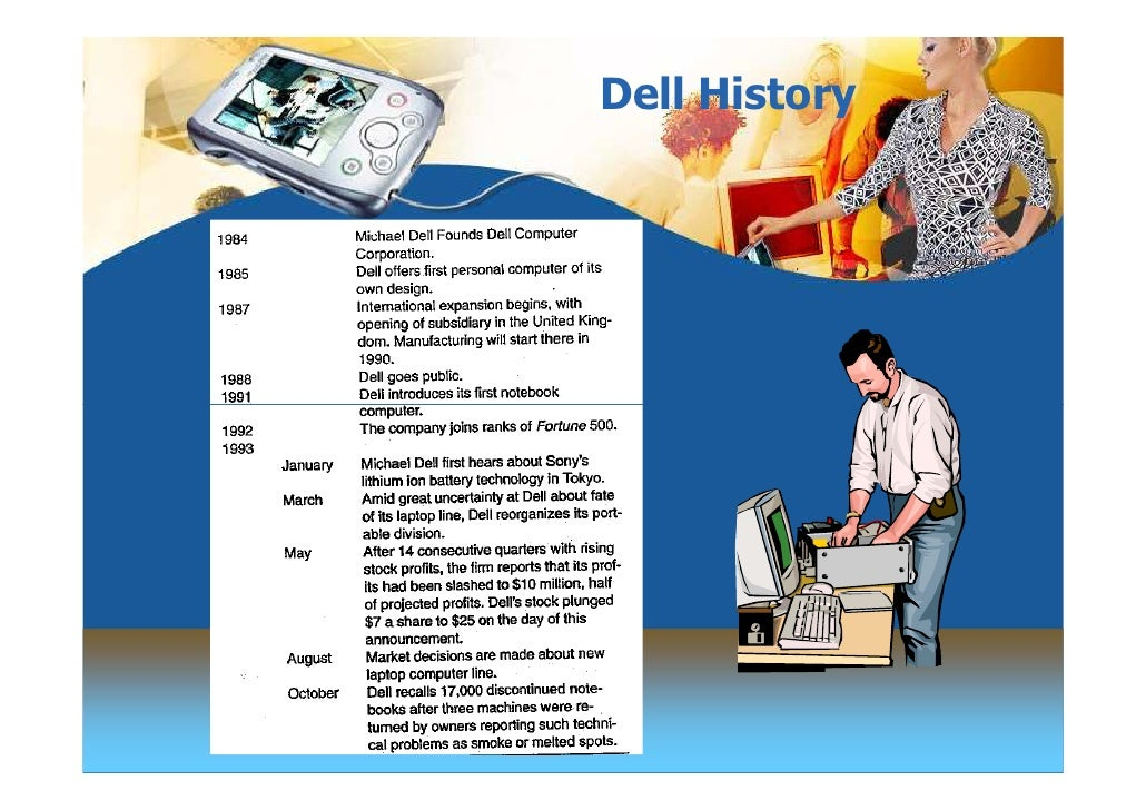 case study strategic development of dell computers Manufacturing operations management: lessons  aligning strategic objectives with both  in addition to selling personal computers, dell's client-base changes.