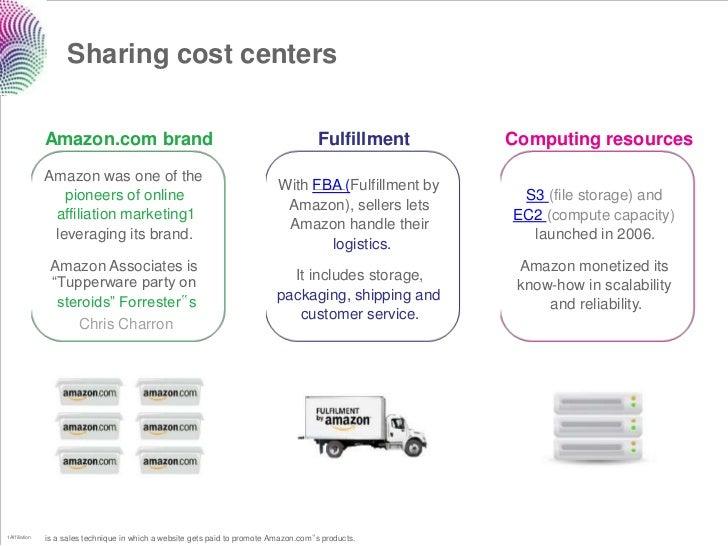 Sharing cost centers               Amazon.com brand                                                        Fulfillment    ...