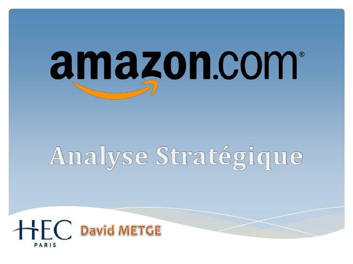 Analyse Stratégique David METGE