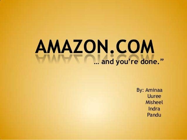 "By: Aminaa Uuree Misheel Indra Pandu … and you're done."""