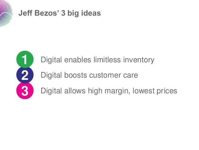 Jeff Bezos' 3 big ideas1     Digital enables limitless inventory2     Digital boosts customer care3     Digital allows hig...