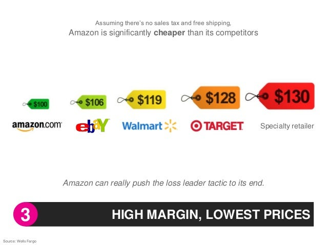 """Assuming there""""s no sales tax and free shipping,                       Amazon is significantly cheaper than its competitor..."""