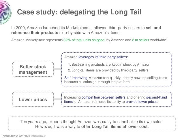 Case study: delegating the Long Tail        In 2000, Amazon launched its Marketplace: it allowed third-party sellers to se...