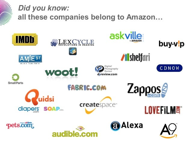 Did you know:all these companies belong to Amazon…