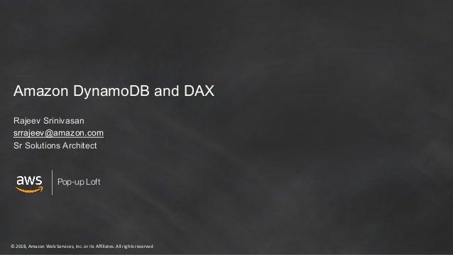 Amazon DynamoDB and Amazon DAX
