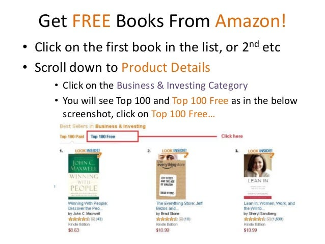 how to get a free book on amazon kindle
