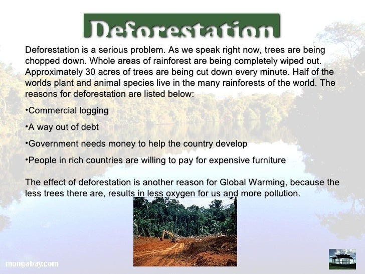Short speech on deforestation