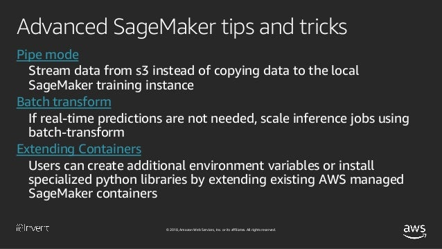Amazon SageMaker and Chainer: Tips & Tricks (AIM329-R1