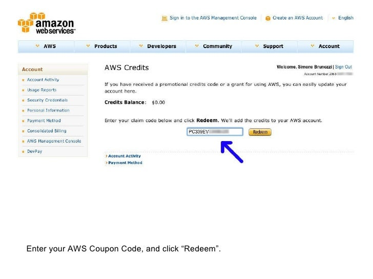 Aws credit coupon / The bark shop