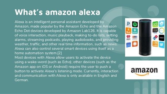 Amazon alexa Slide 2