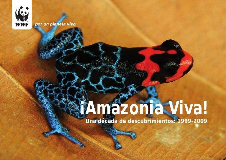 por un planeta vivo                      ¡Amazonia Viva!                      Una década de descubrimientos: 1999-2009