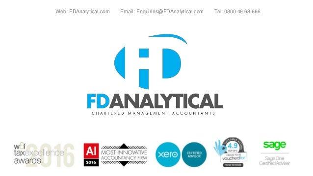 Web: FDAnalytical.com Email: Enquiries@FDAnalytical.com Tel: 0800 49 68 666