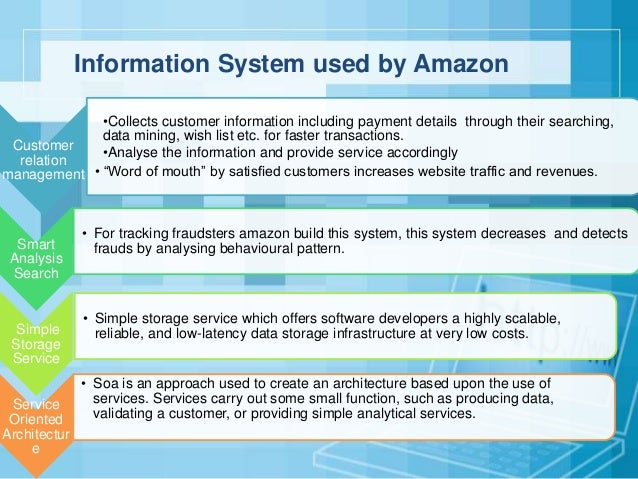amazon information system Join the amazoncom associates program and start earning money today the amazon associates program is one of the largest and most successful online affiliate programs, with over 900,000.