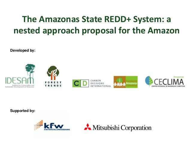 The Amazonas State REDD+ System: a nested approach proposal for the Amazon Supported by: Developed by: