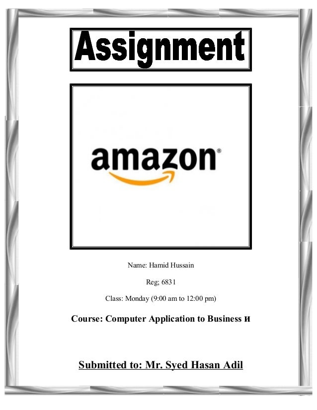 assignment about amazon com The most important aspect why a company like amazon builds more facilities is also to try to decrease total logistics costs they are mainly into books and music but as time goes they have widespread and available for many other categories we will intuitively build a warehouse to.