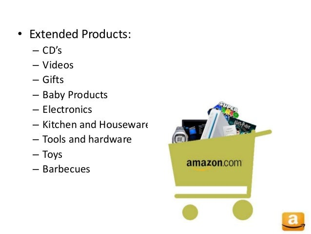 • Extended Products: – CD's – Videos – Gifts – Baby Products – Electronics – Kitchen and Housewares – Tools and hardware –...