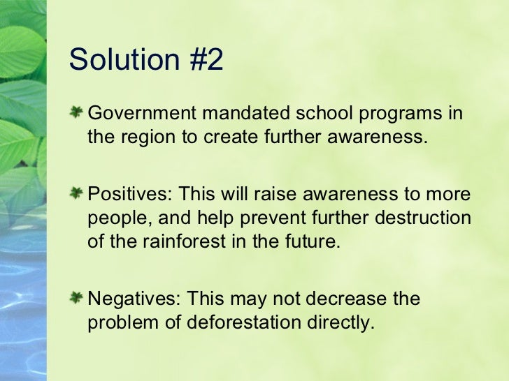 Amazon deforestation presentation