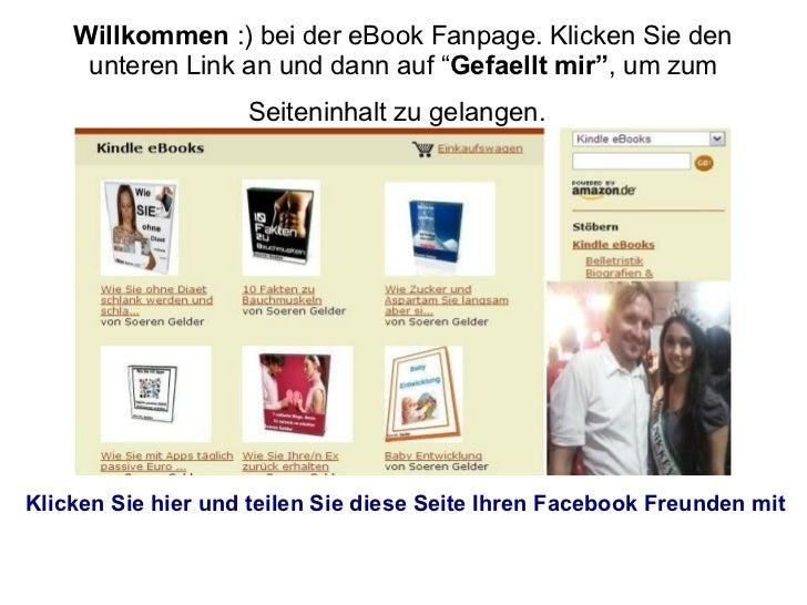 """Willkommen :) bei der eBook Fanpage. Klicken Sie den     unteren Link an und dann auf """"Gefaellt mir"""", um zum              ..."""