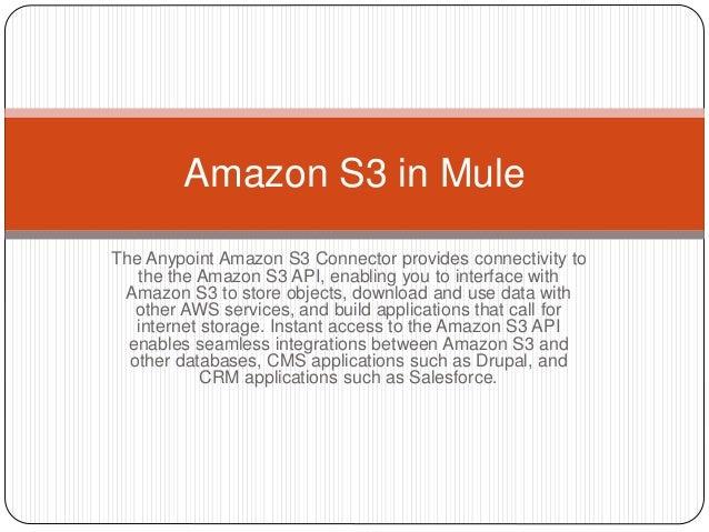 Amazone s3 in mule