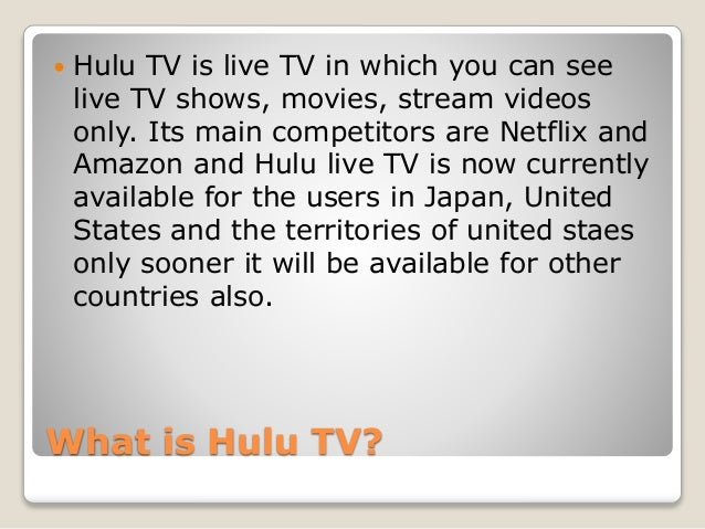 Amazon fire stick not working with hulu live