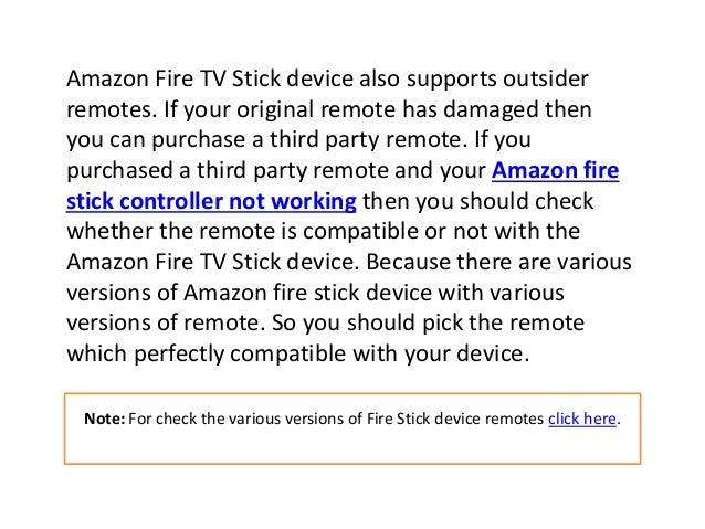 Amazon firestick remote not working according to Mark Kelly