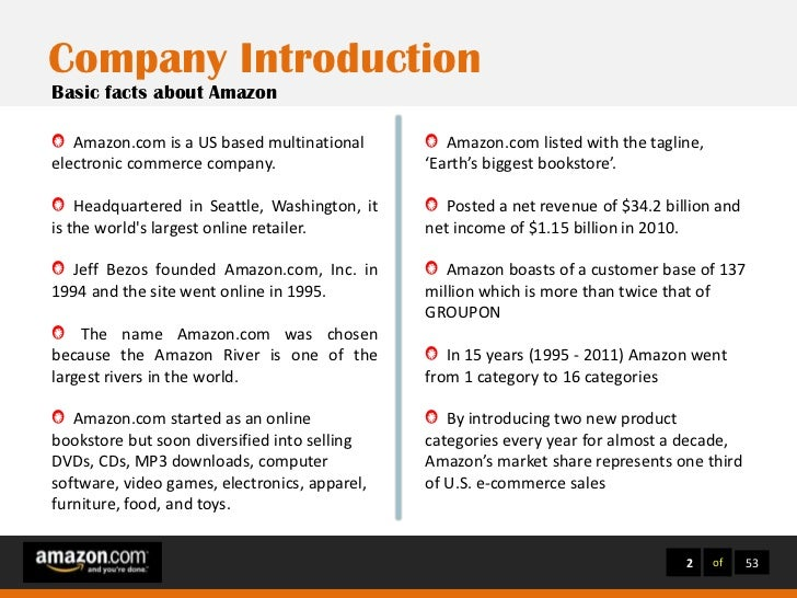 amazon case study essay Case 9 in your textbook answer the all of the questions at the end of the case study case study – amazoncom, inc abc, inc case study essay.