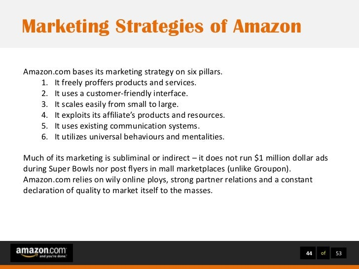 amazons marketing strategies Amazon: amazon echo subscribe to marketing day for the very best digital marketing news, delivered each day  voice agents and interfaces will require many new marketing strategies.
