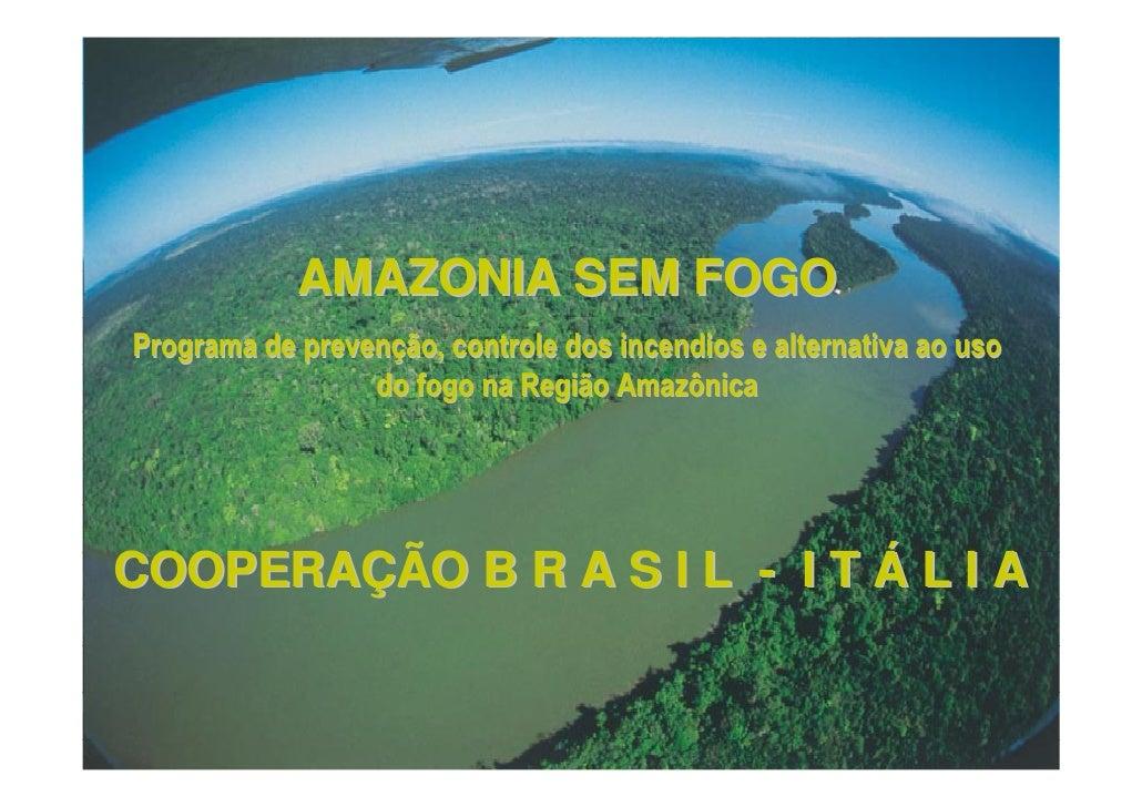 AMAZONIA SEM FOGOPrograma de prevenção, controle dos incendios e alternativa ao uso                 do fogo na Região Amaz...