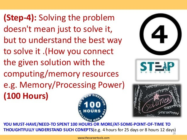 (Step-4): Solving the problem doesn't mean just to solve it, but to understand the best way to solve it .(How you connect ...